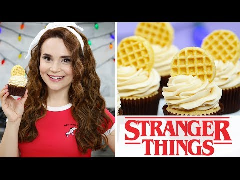 HOW TO MAKE STRANGER THINGS EGGO WAFFLE CUPCAKES - NERDY NUMMIES