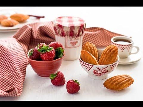 madeleines alle fragole - ricetta