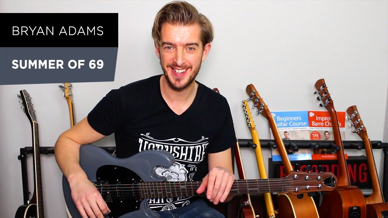 Summer Of 69 Rock Guitar Lesson – Bryan Adams – Electric Guitar