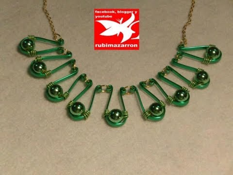 DIY- Collar de alambre plano ( gargantilla )