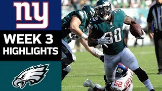 Giants vs. Eagles | NFL Week 3 Game Highlights