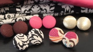 DIY: Fabric Button Earrings - YouTube