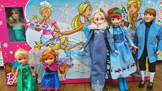 Elsa and Anna toddlers get Barbie's advent calendar