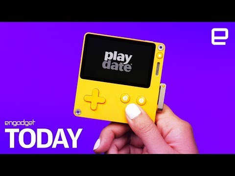 This Portable Game Console Has A Black-and-white Screen And A Crank | Engadget Today