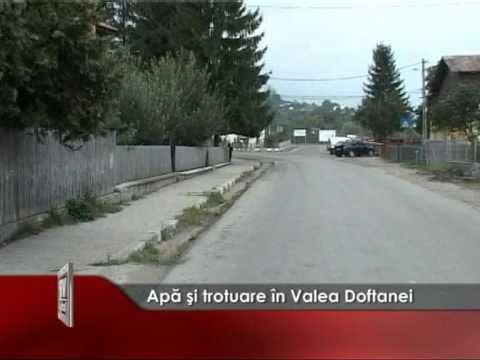 Apă şi trotuare în Valea Doftanei