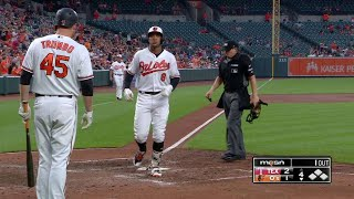 Jonathan Schoop launches a solo home run over the left-field wall to get the Orioles on the board in the 4th inningCheck out http://MLB.com/video for more!About MLB.com: Former Commissioner Allan H. (Bud) Selig announced on January 19, 2000, that the 30 Major League Club owners voted unanimously to centralize all of Baseball's Internet operations into an independent technology company. Major League Baseball Advanced Media (MLBAM) was formed and charged with developing, building and managing the most comprehensive baseball experience available on the Internet. In August 2002, MLB.com streamed the first-ever live full length MLB game over the Internet when the Texas Rangers and New York Yankees faced off at Yankee Stadium. Since that time, millions of baseball fans around the world have subscribed to MLB.TV, the live video streaming product that airs every game in HD to nearly 400 different devices. MLB.com also provides an array of mobile apps for fans to choose from, including At Bat, the highest-grossing iOS sports app of all-time. MLB.com also provides fans with a stable of Club beat reporters and award-winning national columnists, the largest contingent of baseball reporters under one roof, that deliver over 100 original articles every day. MLB.com also offers extensive historical information and footage, online ticket sales, official baseball merchandise, authenticated memorabilia and collectibles and fantasy games.Major League Baseball consists of 30 teams split between the American and National Leagues. The American League consists of the following teams: Baltimore Orioles; Boston Red Sox; Chicago White Sox; Cleveland Indians; Detroit Tigers; Houston Astros; Kansas City Royals; Los Angeles Angels ; Minnesota Twins; New York Yankees; Oakland Athletics; Seattle Mariners; Tampa Bay Rays; Texas Rangers; and Toronto Blue Jays. The National League, originally founded in 1876, consists of the following teams: Arizona Diamondbacks; Atlanta Braves; Chicago Cubs; Cincinnati Reds; Colorado Rockies; Los Angeles Dodgers; Miami Marlins; Milwaukee Brewers; New York Mets; Philadelphia Phillies; Pittsburgh Pirates; San Diego Padres; San Francisco Giants; St. Louis Cardinals; and Washington Nationals.Visit MLB.com: http://mlb.mlb.comSubscribe to MLB.TV: http://mlb.tvDownload MLB.com At Bat: http://mlb.mlb.com/mobile/atbatDownload MLB.com Ballpark: http://mlb.mlb.com/mobile/attheballparkDownload MLB.com Clubhouse: http://mlb.com/clubhousePlay Beat The Streak: http://mlb.mlb.com/btsGet MLB Tickets: http://mlb.mlb.com/ticketsGet Official MLB Merchandise: http://mlb.mlb.com/shopConnect with us:YouTube: http://youtube.com/MLB Facebook: http://facebook.com/mlbInstagram: http://instagram.com/mlbTwitter: http://twitter.com/mlbPinterest: http://pinterest.com/mlbofficialTumblr: http://mlb.tumblr.comGoogle+: http://plus.google.com/+MLB
