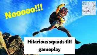 He JUMPED off POLAR!! Funny random squads w/ friends |FortniteBR season 8