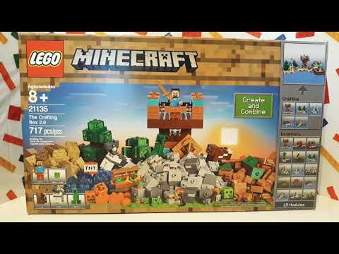 (Part 1) The Crafting Box 2.0, '2017' Lego Minecraft 21135
