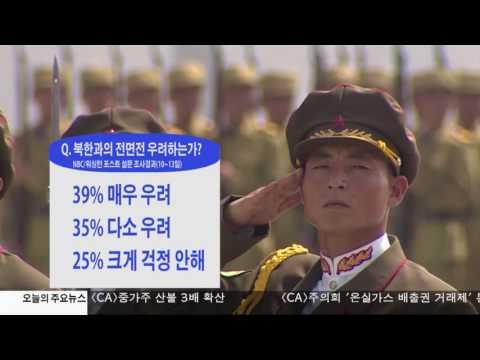 """미국인 74%  """"북한과 전면전 가능성 우려""""  7.18.17 KBS America News"""