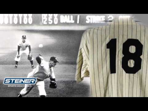 don larsen - In 2012, Yankee Legend Don Larsen decided to auction off the uniform that he wore when he pitched a perfect game in the 1956 World Series. He chose Steiner S...