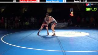 Junior 160 - Christian Stackhouse (New Jersey) vs. Logan Marcicki (Michigan)