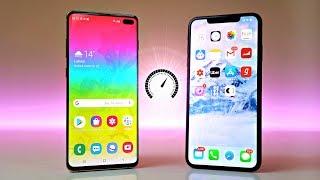 Samsung Galaxy S10 Plus vs iPhone XS Max - Speed Test! (WOW)