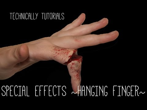 tutorials - Quick, Simple and easy to follow Tutorial on how to create Special Effects Broken/Hanging Finger. Music From:- http://www.royalty-free-music-room.com.