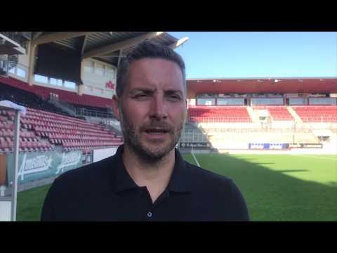 Axel Kjäll efter förlusten mot Malmö FF