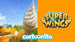 Video Super Wings | The Giant Ice Cream Baby | Cartoonito UK MP3, 3GP, MP4, WEBM, AVI, FLV November 2018