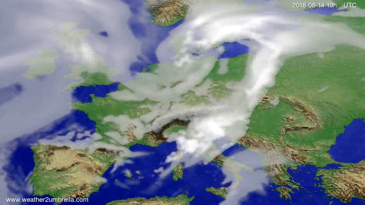 Cloud forecast Europe 2018-08-12