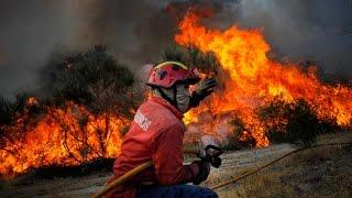 Lamego Portugal  city photos : Grande Incêndio em Lamego - Portugal 2016
