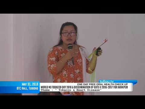 WORLD NO TOBACCO DAY 2018 & DISSEMINATION OF GATS II 2016-2017 FOR MANIPUR