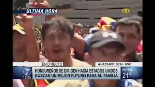 Miles De Hondureños Cruzan La Frontera Con Guatemala