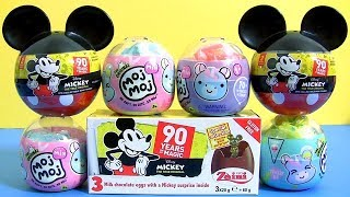 Mickey 90th Anniversary Chocolate egg Surprises Moj Moj Squishy Bundle