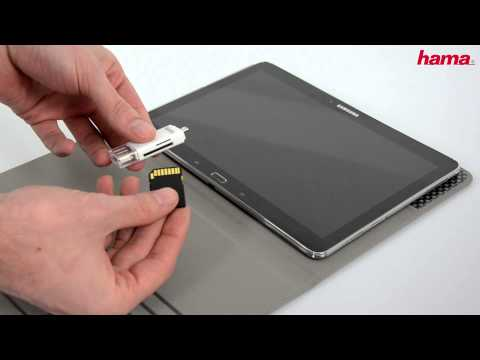 Hama Card Reader for smartphones/tablets with a micro USB connection (видео)