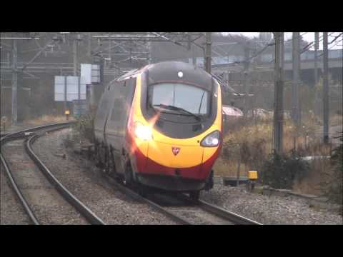 Virgin Pendolino's Full on Tilt at 125mph
