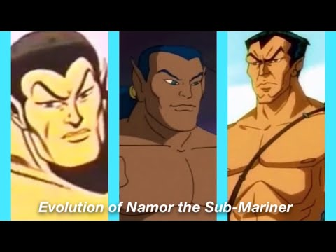 Evolution of Namor the Sub-Mariner in Cartoons in 4 Minutes (2020)