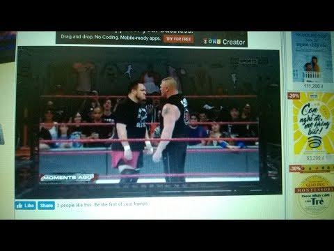 Brock Lesnar & Samoa Joe brawl 12/6/2017