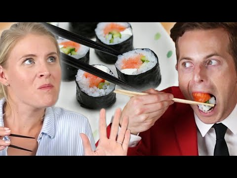 Couple Tries Home-Cooked Vs. $35 Sushi (видео)