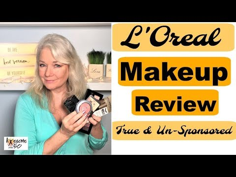 Beauty Makeup Review for L'Oreal for Face, Eyes, Lips Brows,  Unsponsored, Mature Women over 50