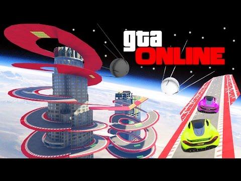 КОСМИЧЕСКИЕ ГОНКИ C ЛОВУШКАМИ ВОКРУГ MAZE BANK В GTA 5 ONLINE (ГТА 5 ОНЛАЙН ГОНКИ) (видео)