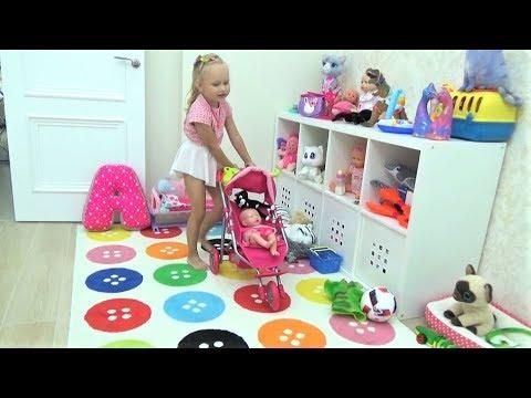 Новые игрушки Алисы КУКОЛКА Лялечка и Динозаврик с КОШКОЙ !!! New TOYS for children (видео)