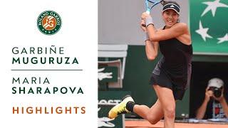 Garbine Muguruza vs Maria Sharapova - Quarter-Final Highlights I Roland-Garros 2018