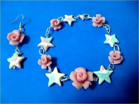 porcelana fria - En este vídeo verán como hacer una linda pulsera de estrellas y rosas de porcelana fría; es así como Taller Manual Perú les invita a participar de las clases...
