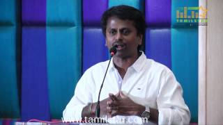 A R Murugadoss and Sathish at Maan Karate Success Meet