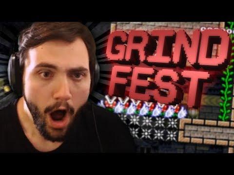 Super Expert No Skip Turned GRIND FEST - Super Mario Maker (видео)