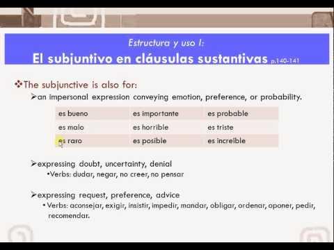 Present Subjunctive complete WEIRDO