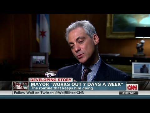 CNN: Rahm Emanuel's rigorous workout routine