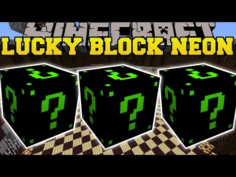 Minecraft: NEON LUCKY BLOCK MOD (SLENDERMAN, DAVER COPPERFIELD, & MORE!) Mod Showcase