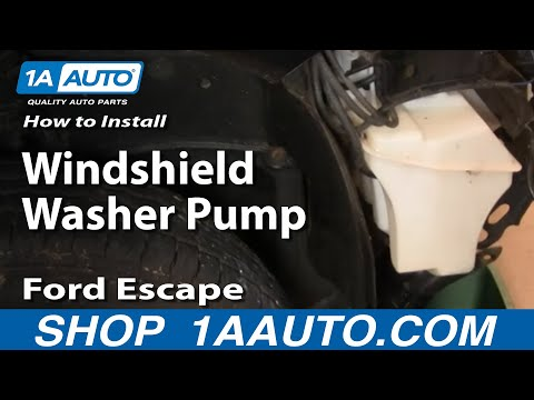 How To Install Replace Windshield Washer Pump Ford Escape 01-11 1AAuto.com