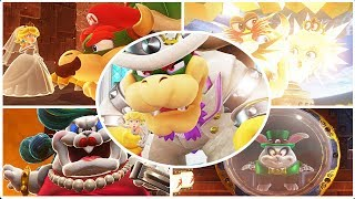 Final Moon Castle Boss + All Cutscenes - Super Mario Odyssey - Final Ending Boss Bowser