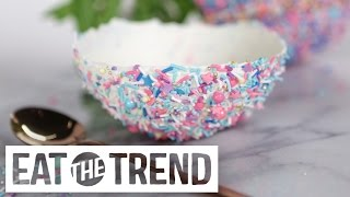 Sprinkles-Covered Edible Ice Cream Bowls | Eat the Trend by POPSUGAR Food