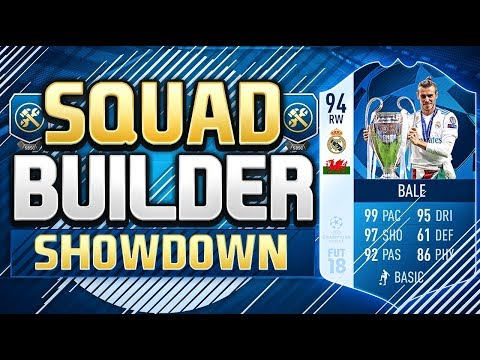 FIFA 18 SQUAD BUILDER SHOWDOWN!!! CHAMPIONS LEAGUE FINAL MOTM BALE!!! 94 Rated Bale