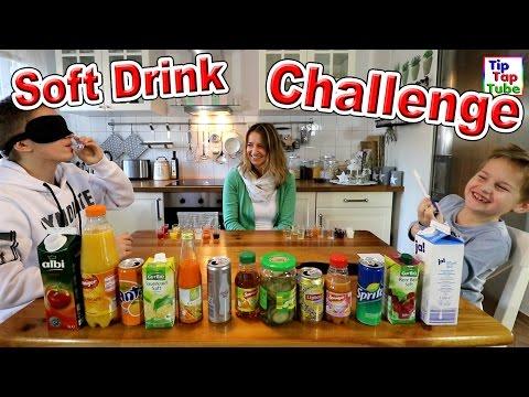 SOFT DRINK CHALLENGE   Ash vs MAx   geronnene Milch als Bestrafung   TipTapTube