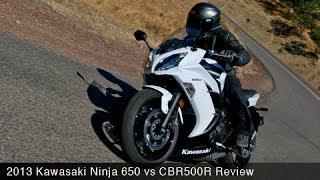 1. 2013 Kawasaki Ninja 650 vs CBR500R Comparison - MotoUSA