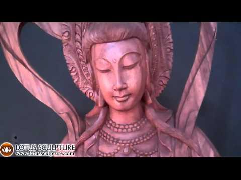 SOLD Wooden Kwan Yin Bodhisattva Statue 84
