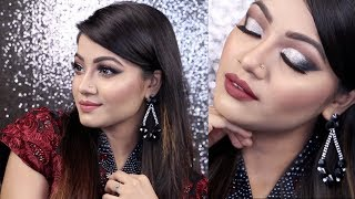 Hi loves, this is my EID MAKEUP 2017, where I have created Silver Glitter Half cut crease eyes. This look is also perfect for any party or as a wedding guest...