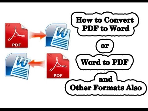 How to convert pdf to word, jpeg, png, html & many formats