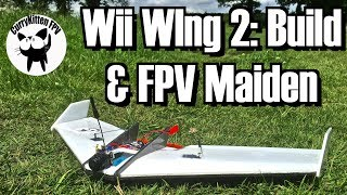 Here's my build and first flights of the Wii WIng 2... not so much a review of sorts, as I already love it from the original.  This one was built a little more with FPV in mind so easier to hit the CG and more space for a camera and lipo.If you are after a Wii Wing 2, the best place to send a message to G is via this thread at http://www.fpvhub.com/index.php/topic,51495.0.htmlThe gear I've used in my build is  (some affiliate links used) -Motor (5400kv version) - https://www.banggood.com/DYS-BE1104-1104-Brushless-Motor-5400KV-6500KV-7000KV-2-3S-for-100-120-150-Mini-Multirotors-p-1048677.html?p=E81211714085201408XQReceiver - https://www.banggood.com/2_4G-8CH-D8-Mini-FrSky-Compatibel-Receiver-With-PWM-PPM-SBUS-Output-p-1140478.html?p=E81211714085201408XQServos - https://www.banggood.com/1_7G-Low-Voltage-Digital-Servo-Orlandoo-OH35P01-KIT-RC-Car-Parts-p-968283.html?p=E81211714085201408XQESC - https://hobbyking.com/en_us/turnigy-plush-6a-8bec-6g-speed-controller.html?___store=en_usProps - I was using some 3020 props I got from Banggood, but these aren't found anymore, so I need to look for new onesVTX - https://www.banggood.com/Eachine-VTX03-Super-Mini-5_8G-72CH-025mW50mw200mW-Switchable-FPV-Transmitter-p-1114206.html?p=E81211714085201408XQCamera - AKK-Tech KC28 https://www.amazon.com/dp/B06XKTV8G8?m=ADP3MHCS3NLR7&ref_=v_sp_detail_page (still no European store open as yet)Lipos - https://hobbyking.com/en_us/turnigy-nano-tech-180mah-2s-25-40c-lipo-pack.html (but we can use slightly bigger ones)The only other things I used (aside from clear Duck tape) which I haven't already mentioned is Uhu Por to stick it all together, and some 0.9mm piano wire with some Z-Bend pliers to make the push rods.If you are interested in what I did to blind myself, I pressed the left button on my Dom 3's instead of the right (which would have started the DVR recording) this put it into 3d mode, and then some other mode... and I couldn't see until I'd cycled through them by which point I had go