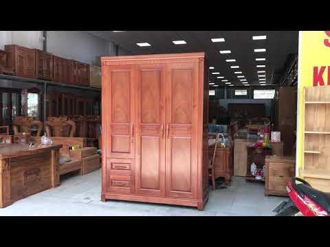 Tủ áo gỗ Xoan Đào cao cấp loại 1 - Đồ Gỗ Cường Nga